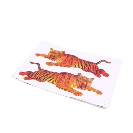 Tigers 2 Car - 2 In 1 Vinyl Brown Tiger Pattern Decal Sticker for Auto Car Decorative