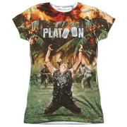 Platoon Key Art (Front Back Print) Juniors Sublimation Shirt