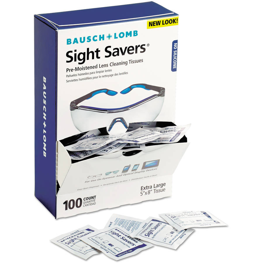 Bausch & Lomb Sight Savers Pre-Moistened Lens Cleaning Tissues, 100 Tissues/Box