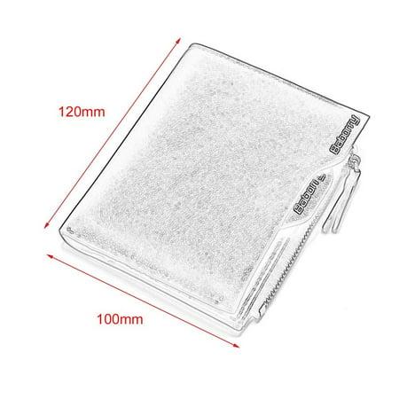 Antimagnetic Men Wallet Anti RFID Male Zipper Purse Short PU Leather Wallet - image 8 de 10