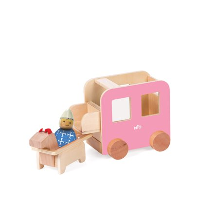 Toy Race Horses (Manhattan Toy MiO Wooden Carriage + Horse + 1 Person Imaginative Play)