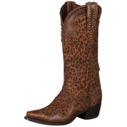Lane Western Boots Womens Double D Ranch Cheetah Chic Brown DD9020A
