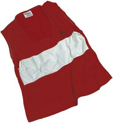 Select ScrimMage Over-Vest Soccer Training Bib, YOUTH, Red, 2PK by