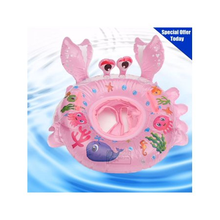 Baby Inflatable Swimming Float Ring Children Waist Inflatable Floats Swimming Pool Toys with Float Seat for Bathtub and Pools Swim Trainer of 6-30 months  l Baby Swimming Float, In ()