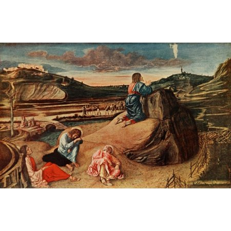 1911 Painting - A History of Painting 1911 Christs Agony in the Garden Stretched Canvas - Giovanni Bellini (24 x 36)