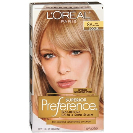 L'Oreal Superior Preference - 8A Ash Blonde (Cooler) 1