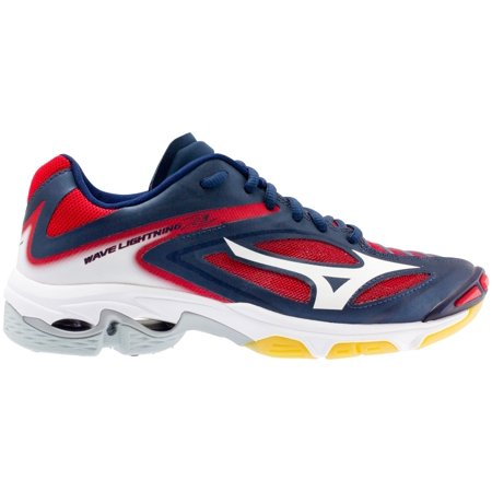 Mizuno Women s Wave Lightning Z3 Volleyball Shoes (Navy Red db1d8b95206