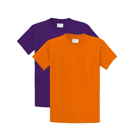 Unisex Kids Regular Fit Youth Short Sleeves Cotton T-Shirt - Boys and Girls (7 yrs - 16 Yrs Old) Pack - 7 Year Old Boys