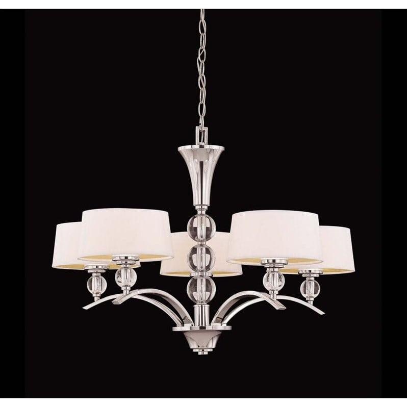 Savoy House Murren 5 Light Chandelier in Polished Nickel