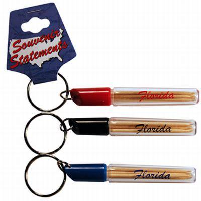 Jenkins florida keychain toothpick holder pack of 96 - Personal toothpick holder ...