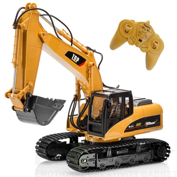 Big Daddy Super Powerful Full Functional Die Cast 15 Channel Professional Remote Control Excavator Tractor Toy With Lights Amp Sound Walmart Com Walmart Com