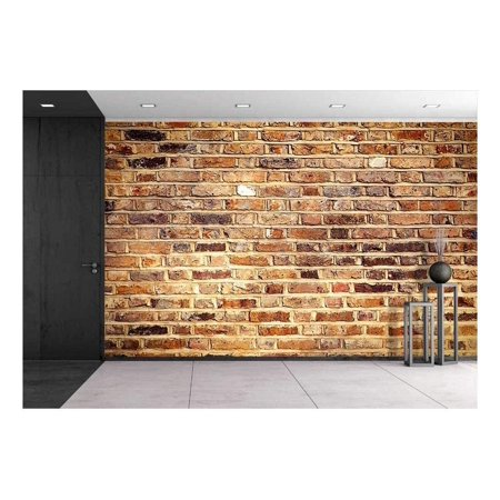 wall26 - Industrial Brick Wall Best Background Texture Close - Removable Wall Mural | Self-adhesive Large Wallpaper - 66x96