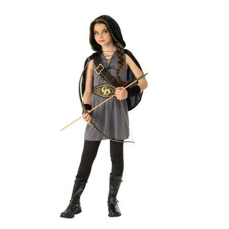 Girls Tween Hooded Huntress Halloween Costume](Peeta Hunger Games Costume)