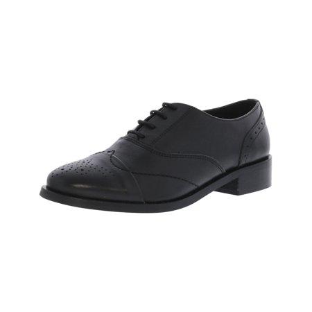 Steve Madden Men's Mya Leather Black Ankle-High Oxford Shoe - 7M ()