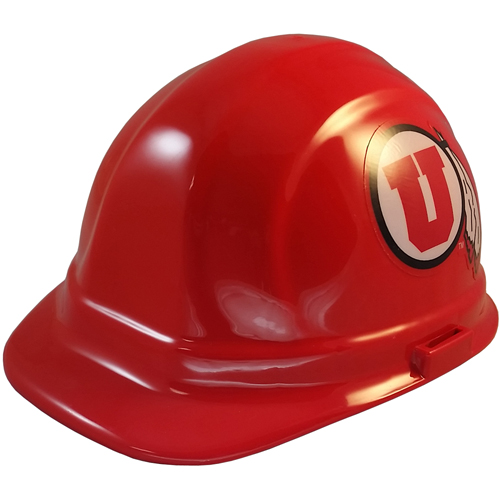 NCAA Utah Utes Hard Hats with Ratchet Suspension