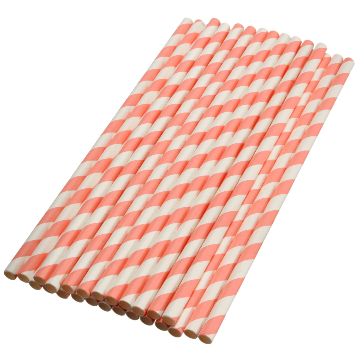 Meigar 25Pcs Colorful Striped Paper Drinking Straws Wedding Birthday Party