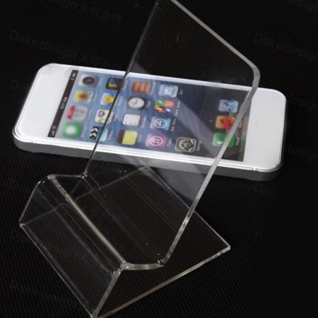 Ustyle 5pcs Acrylic Clear Cell Phone Mount Holder Durable Universal Business Card Stand Holder for Mobile Devices - image 9 of 9
