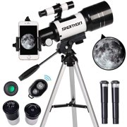 SKONYON Telescope for Kids& Beginners, 70mm Aperture 300mm Astronomical Refractor Telescope