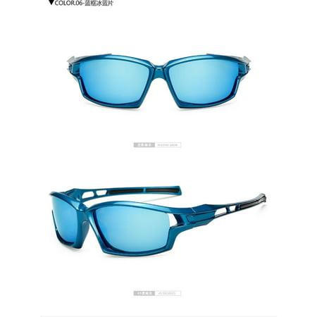 Blue Mens Lens (New POLARIZED Blue Lens Mens Anti Glare Fishing Cycling Driving Sport Sunglasses)