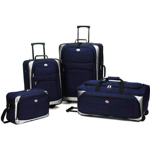 American Tourister 4-Piece Luggage Set, Navy