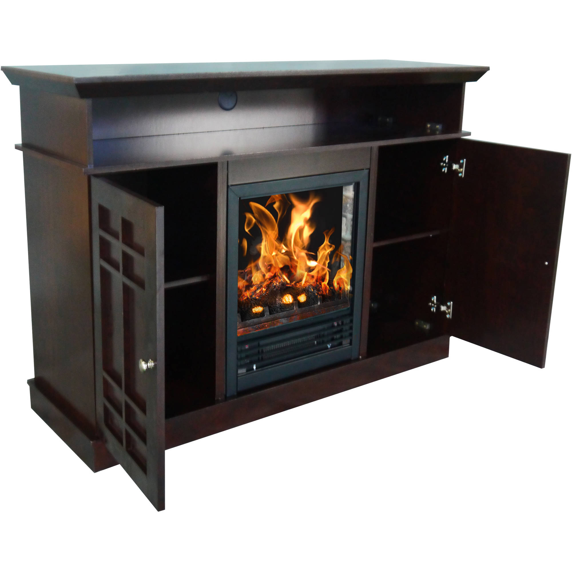Decor Flame Bailey 48 Media Fireplace For Tvs Up To 55 Dark Chocolate
