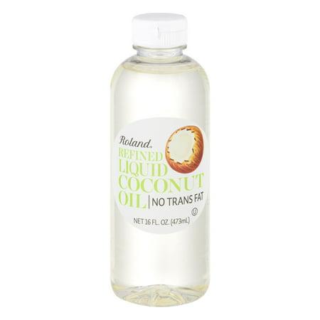 Roland Refined Liquid Coconut Oil, 16.0 FL OZ (Roland Coconut)