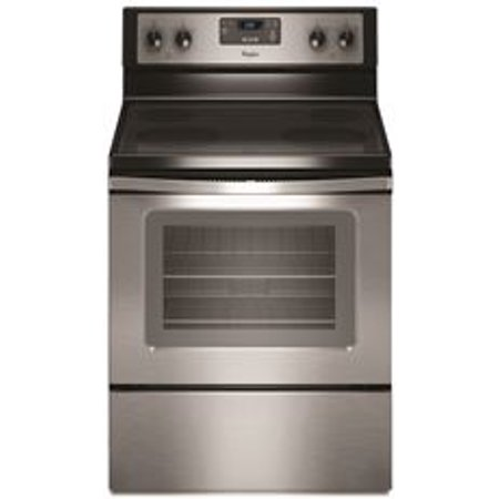 Whirlpool 30 Inch  4 8 Cu  Ft  Single Oven Free Standing Electric Range  Stainless