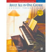 Alfred's Basic Adult All-In-One Course, Bk 2: Lesson * Theory * Solo, Book & CD (Paperback)