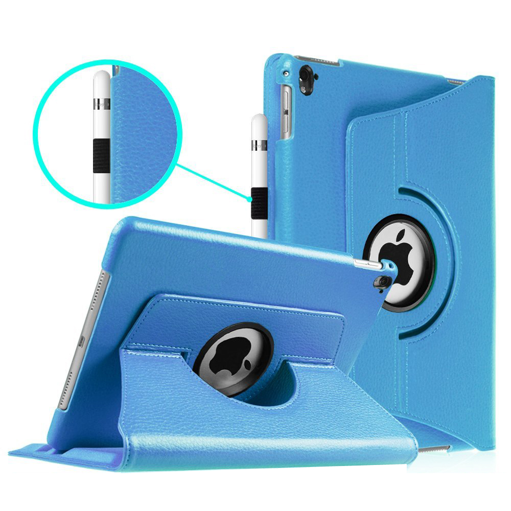 Fintie iPad Pro 9.7 Case - [360 Degree] Rotating Stand Case with Smart Cover Auto Sleep / Wake Feature, Blue