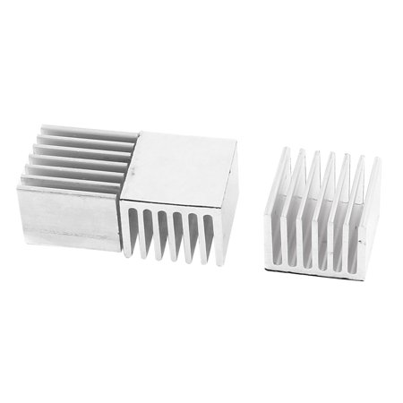 3 Pcs 15 x 20 x 20mm Aluminum  CPU IC Cooling Self-Adhesive Heatsink