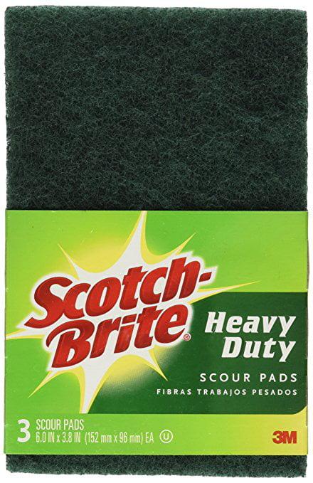 3m 50218 Scotch Brite Heavy Duty Scour Pad 223 6 In X 3 8 In 24 Packs Of 3 Walmart Com Walmart Com