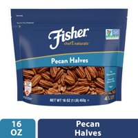 FISHER Chef's Naturals Pecan Halves, 16 oz, Naturally Gluten Free, No Preservatives, Non-GMO