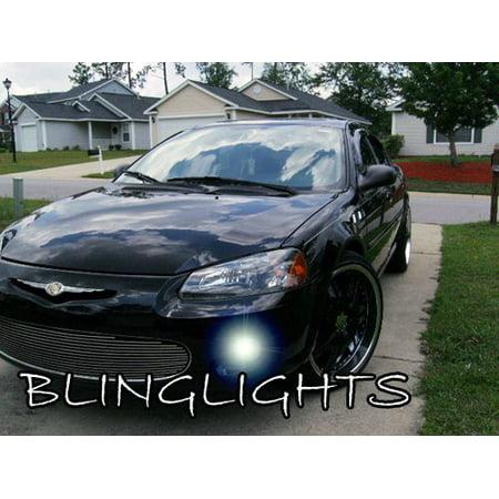 2001 2002 2003 Chrysler Sebring Convertible Blue LED Fog Lamps Driving Lights Foglamps Foglights Kit 00 Chrysler Sebring Convertible