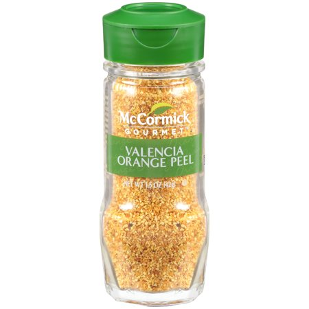 Grated Orange Peel - McCormick Gourmet Valencia Orange Peel, 1.5 oz