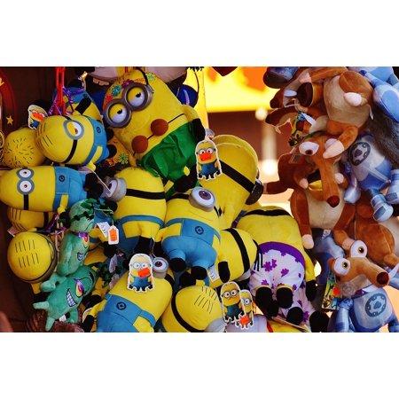 LAMINATED POSTER Sales Stand Stand Plush Toys Oktoberfest Minions Poster Print 24 x 36