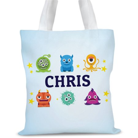 Little Monsters Personalized Kids Tote Bag, Sizes 11