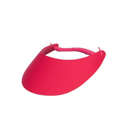 fabric foam sun string visor - cherry red osfm
