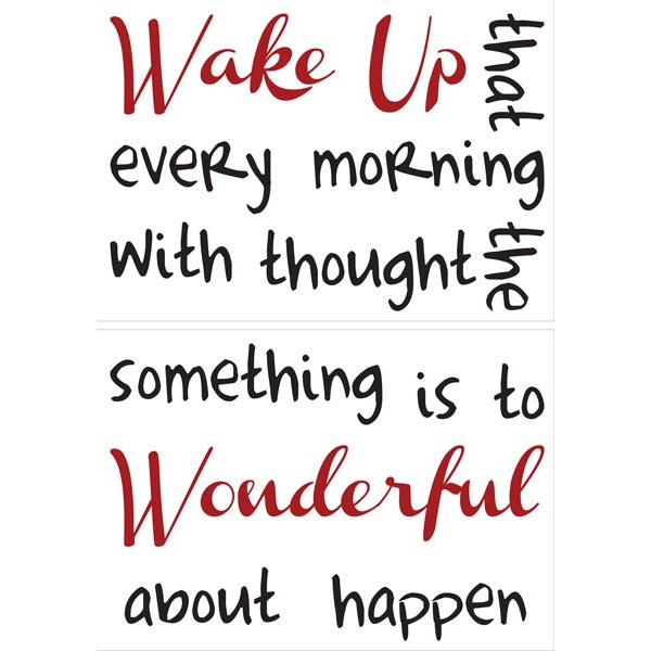 Home Decor Line Wake Up Wall Quote