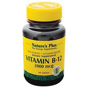 Nature's Plus - Vitamine B-12 2000 MCG S / R TAB 60
