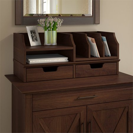 Bush Key West Desktop Organizer with Drawers in Bing Cherry - image 6 de 7