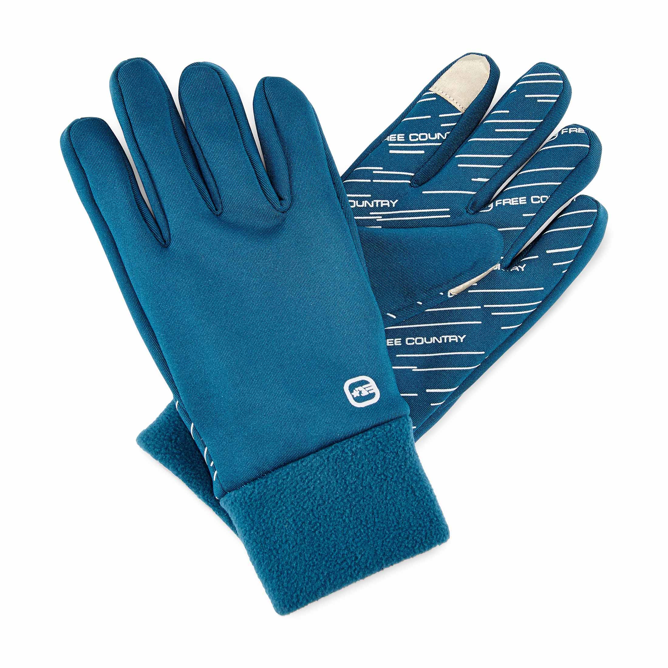 Free Country Women's Microtech Stretch Fleece Gloves - Deep Lagoon - S/M