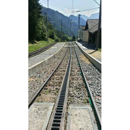 Train Mountain Railroad - Framed Art For Your Wall Rack And Pinion Railway Alps Train Mountain Rail 10x13 Frame