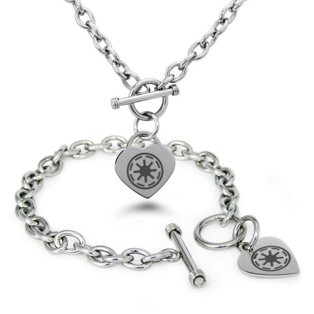 Stainless Steel Star Wars Galactic Republic Symbol Heart Charm