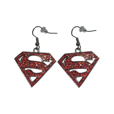 Adult's Womens DC Comics Superman Supergirl Earrings Costume Accessory for $<!---->