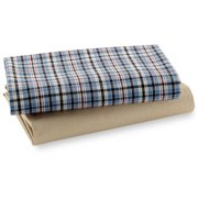 Bacati - Aidan Fitted Crib/Toddler Bed Sheets 100% Cotton, 2-Pack