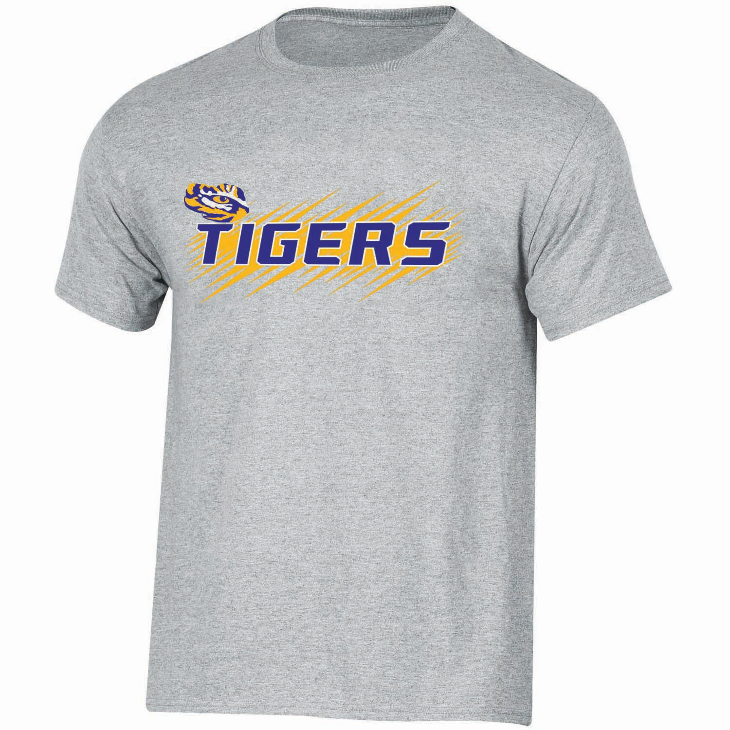 Youth Russell Gray LSU Tigers Puff Ink Crewneck T-Shirt