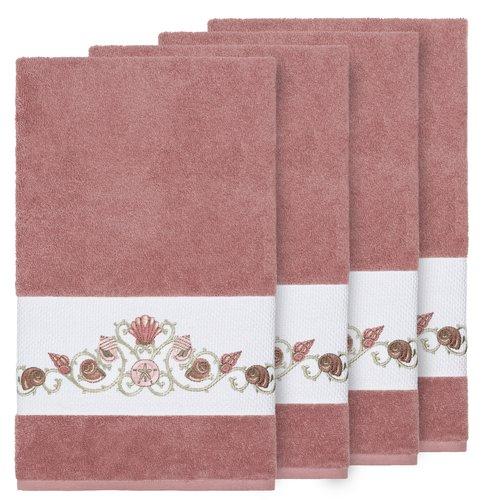 Highland Dunes Folmar Embellished Turkish Cotton Bath Towel (Set of 4)