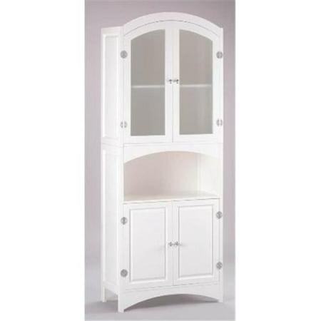Zingz & Thingz 57070231 Wood Linen Cabinet with Glass (Door Linen Cabinet)