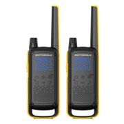 Motorola Solutions T470 Two-Way Radio Black W/Yellow (2 Pack)