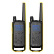 Motorola Solutions T470 Two-Way Radio Black W/Yellow (2 Pack)